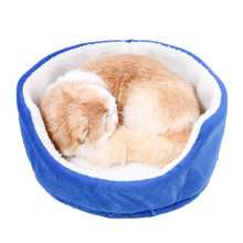 Warm Pet Dog Bed Cotton Soft Puppy Sofa Cats House Sleeping Blanket Kennel for Smalll Dogs Kitten Animal Blue Grey Rose Yellow(China)