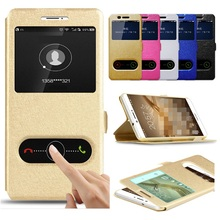 Case For Sony Z3 Z5 M2 M4 E3 Z5 Compact premium Cover Smart Flip Window view stand holder PU leather Hard phone Case funda(China)