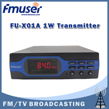 Free Shipping FMUSER FU-X01A NEW 1W FM Transmitter FM radio broadcaster 50usd/70us Pre-emphasis 0-1w Power Output Adjustable