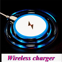 200SET/LOT QI Wireless Charger Charging Pad Blue Light Crystal Q10 For Samsung Galaxy S7 S6 edge S5 Note 5 4 3 LG Google iphone