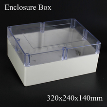320*240*140MM Adaptable IP66 Junction Box Outdoor Waterproof Enclosure with transparent Clear cover 320x240x140MM(China)