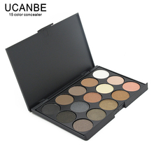 UCANBE 15 Earth Color Matte Pigment Glitter Eyeshadow Palette Cosmetic Makeup Set Nude Eye Shadow palettes(China)