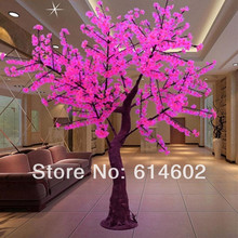 H:2m pink Christmas outdoor led tree lights Outdoor waterproof