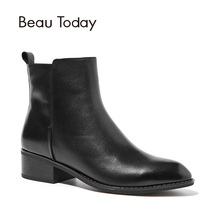 BeauToday Martin Boots Women Top Quality Brand Boot Genuine Cow Leather Handmade Ankle Length Autumn Winter Lady Shoes 03230(China)