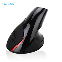 FASTDISK Rechargeable Healthy  rechargeable Li-ion battery wireless vertical ergonomic mouse laser Mice 800-1200-1600DPI