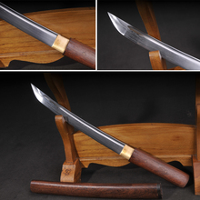 Handmade Japanese sword Damascus Folded Steel TANTO SWORDS&SHIRASAYA Full tang blade Functional real katana(China)