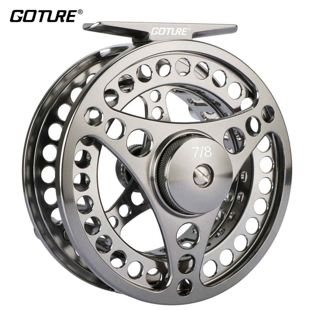 Goture High Quality Fly Fishing Reel 3/4 5/6 7/8 Interchangeable Fly Reel 2+1BB 1:1Aluminum Alloy Fishing Gear Fishing Tackle<br>