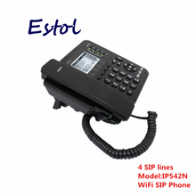 DHL EMS Free Shipping Wireless voip phone/4 line ip phone asterisk elastix cordless WIFI desktop SIP phone