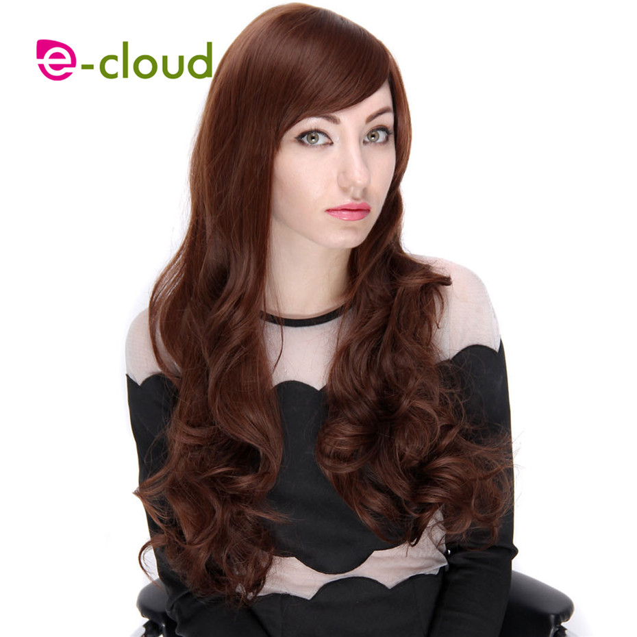 25 Synthetic Wigs For Women Long Curly Hair Full Wigs With Side Bangs Cheap Heat Resistant Hair Wig Synthetic Fake Hair Perucas<br><br>Aliexpress