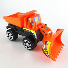 Cheap creative car model Inertial plastic bulldozer for children toys gift
