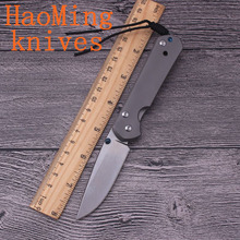 Hot Tactical hunting folding knife D2 blade Titanium handle camping survival pocket knives outdoor EDC Mini tools the best gift(China)