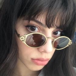 SHAUNA Ins Популярные готические маленькие овальные Панк мужские солнцезащитные очки, Ретро стиль металлические стимпанк Солнцезащитные очки ...