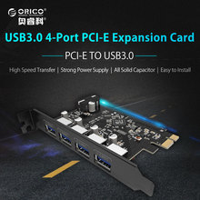 ORICO Desktop Expansion Card 4 Port USB3.0 PCI Express Card for Laptop Support Windows XP/7/8/Vista(China)