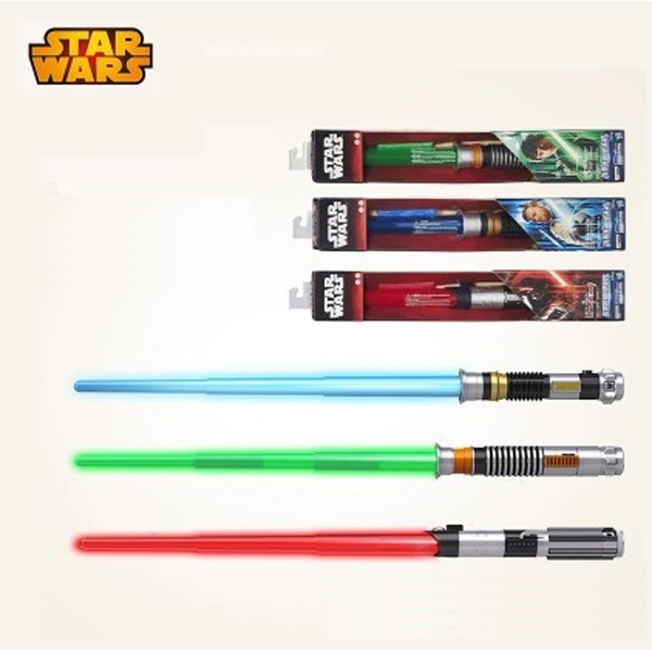 New high quality Star Wars Lightsaber Telescopic Light Saber Star Wars 7 Cosplay Weapons Sword with Light and Sounds Figure Toys<br><br>Aliexpress
