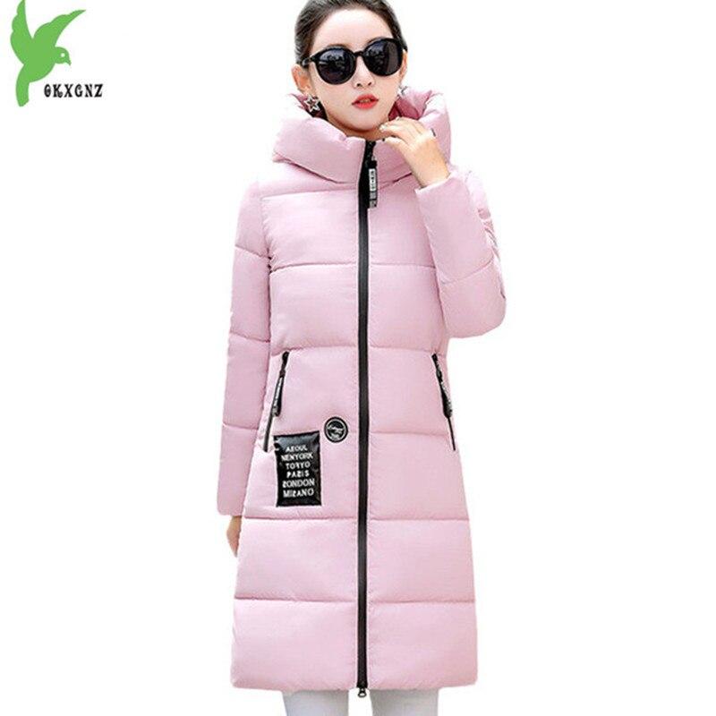 2017 New Women Long Winter Jacket Plus Size Warm Cotton Coat Hooded Female Parkas Wadded Outerwear Winter Coat Women OKXGNZ 1205Îäåæäà è àêñåññóàðû<br><br>