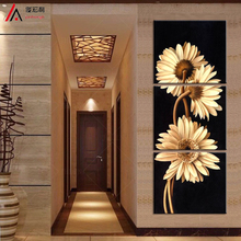3 Pcs/Set Artist Canvas Chrysanthemum Still Life painting vertical forms Canvas Prints Wall Pictures for Living Room Picture