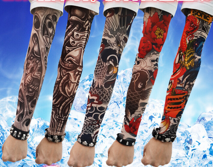 Tattoo Sleeves Costume Cycling Tattoos Arm Warmers Basketball Warmer Golf Men Womens Sleeve Cover In From S