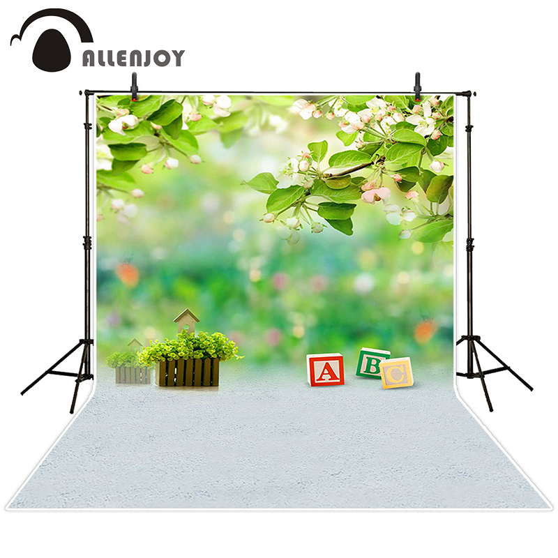 Allenjoy photographic background Fuzzy ABC flower leaves backdrops newborn boy photocall Send rolled 8x12ft<br><br>Aliexpress