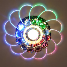 3W/5W Bedroom/Foyer Ceiling Light Lampshade Crystal Ceiling Light Beautiful Round Led Home Decoration Modern Crystal Led Light(China)