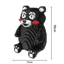 HC Magic Blocks Japanese Anime Kumamon DIY Building Bricks 3D Auction Figure Micro Blocks Kids toys Girls Gifts 9006