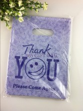 Buy Cheap Plastic Shopping Bags,Violet Cute Face Favor Bags For Boutique Shopping 500pcs 15*20cm Plastic Jewelry Gift Bags
