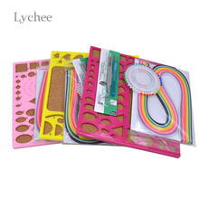 Lychee New Arrival DIY Paper Crafts Tool Paper Quilling Home Novelty Paper Craft Decoration Color Random(China)