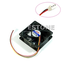 3 Pin 80mm 25mm Silent Cooler Case Fan Heatsink Cooling Radiator Computer PC CPU #ROF95#