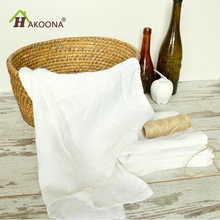 HAKOONA 100% Linen Table Napkins White Tea Towels Kitchen Hand Towel S Washable Tea Towes 45x45cm 50*70cm(China)