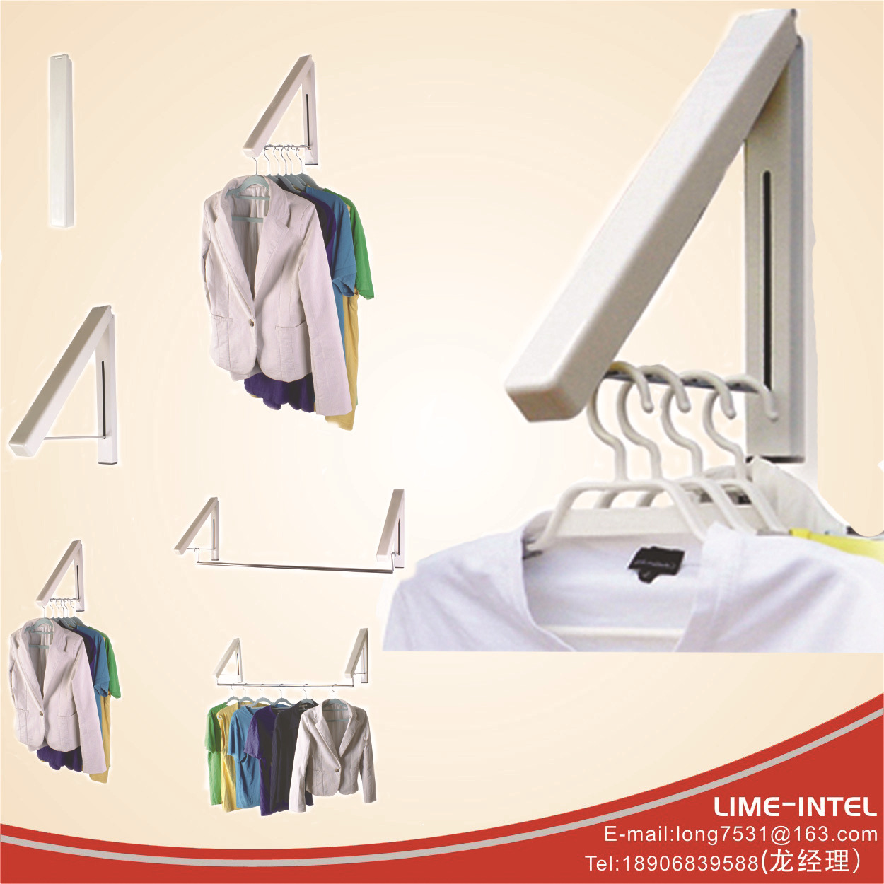 Multi function European Wall Drying Rack Foldable Clothes Hanger<br><br>Aliexpress