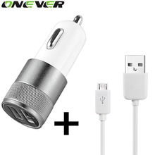 Onever USB Car Charger Quick Charge 2.0 Adapter for Samsung Galaxy S6  iPhone 6s+Micro USB Charging Cable For Samsung Android