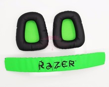 1set Maintenance Replacement Top Headband plastic head band parts + ear pads For Razer Kraken Pro Electra Headphones Accessories