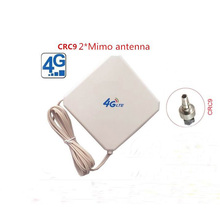LTE 4G full band 700-2700MHZ magnetic base antenna 35dBi 4g indoor signal wifi dual cable CRC9 antenna