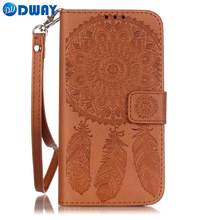 Dream Catcher PU Leather Wallet Flip Cover Case for Samsung Galaxy S7 S6 S5 / S7 S6 Edge / Edge Plus Phone Case W/ Carry Strap(China)