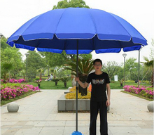 Outdoor Large umbrella / silver glue coating/ Antifouling/ Rugged/ Wind resistance/ waterproof/ Beach umbrella/tb151102