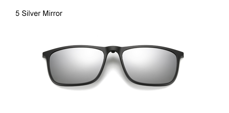 Ralferty 5 In 1 Ultra-Light TR90 Magnetic Polarized Clip On Sunglasses Men Women Square Sunglases Night Vision Glasses A8804 14