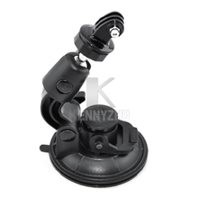 10pcs/lot Universal Rotated 1/4 Screw Auto Car 9cm Base Suction Cup Mount Stand with Adapter for Outdoor Camera GoPro 4 3+ 2 1