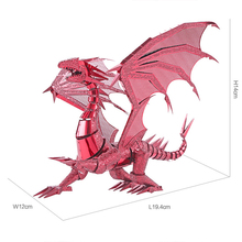 3D Metal Puzzle Dragon Laser Cut Models Jigsaw Toy FLAME Metal Puzzle Scale Model Kit Adult/Kid Educational Creative Gifts