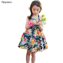 brand childrens dress teenage kids summer floral princess dresses Bohemian 2017 fashion baby beach dress for girls clothes