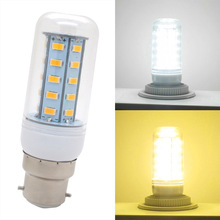 Smart IC 24 36 48 56 69 72 81 89 LEDs 5730 SMD B22 LED Lamp 7W 10W 15W 20W 30W AC 200V-240V Corn Light Bulb Chandelier Candle