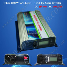 Grid connected pv inverters 1000w, grid connect solar inverter dc 45-90v input to ac 190-260v output