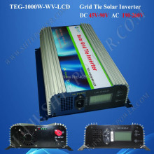 Grid connected pv inverters 1000w, grid connect solar inverter dc 45-90v input to ac 190-260v output(China)