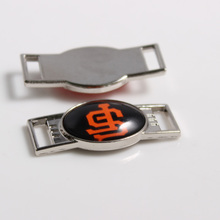 San Francisco Giants MLB Baseball Team Logo Oval Shoelace Charms For Sport Shoes And Paracord Bracelets Jewelry Decoration 6pcs