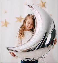 Buy 36inch Silver Gold Moon Foil Balloons Birthday Wedding Party Moon shape Helium Decoration Supplies Mylar Globos Baby Shower Toys for $1.25 in AliExpress store