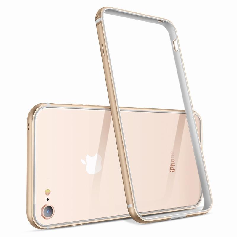 Ascromy For iPhone 8 Case Aluminum TPU Silicone Hybrid Shockproof Bumper Case for iPhone 7 Plus 8 8Plus 7Plus Metal Frame Coque (2)