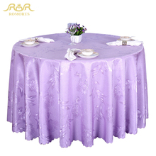 ROMORUS Luxury Round Tablecloths Wedding Home Kitchen Table Cover/Table Line Gold/Red/Purple/White Party Dining Table Cover