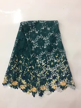 African Guipure Lace Aso Ebi fabric/ Latest Design Christmas Nigerian Cord Lace(China)