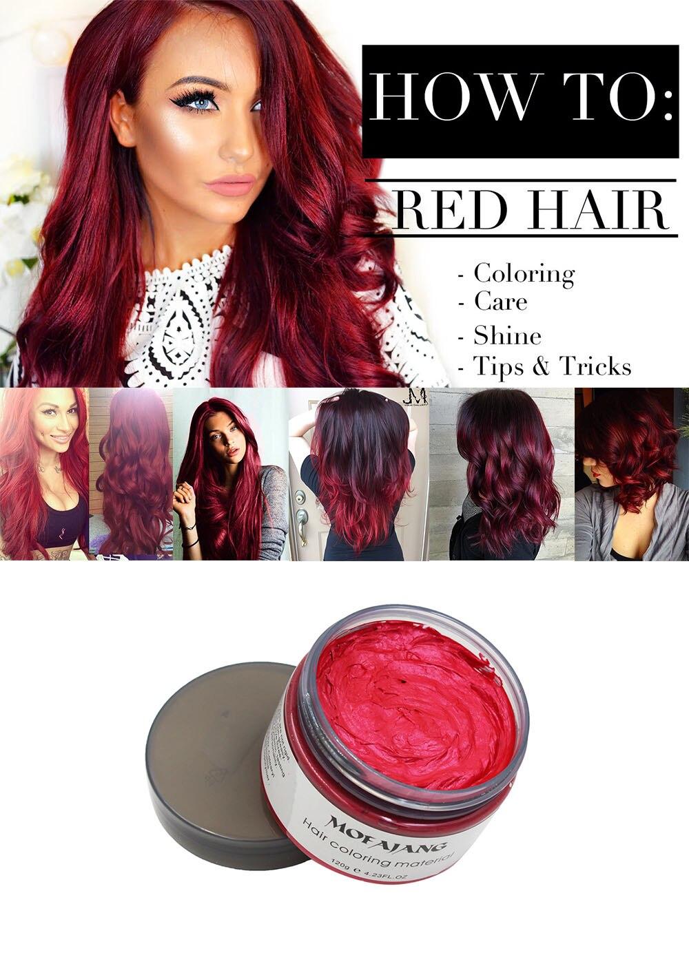 Red hair wax 13