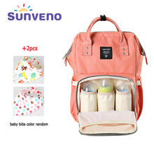 SUNVENO 2017 Fashion Mummy Maternity Diaper Bag Mom Backpack Brand Large Capacity Baby Bag Desinger Nursing Bag For Baby Care