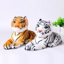 25cm Cute Plush Tiger Animal Toys White Yellow Lovely Stuffed Doll Animal Pillow Children Kids Birthday Gift Free Shipping