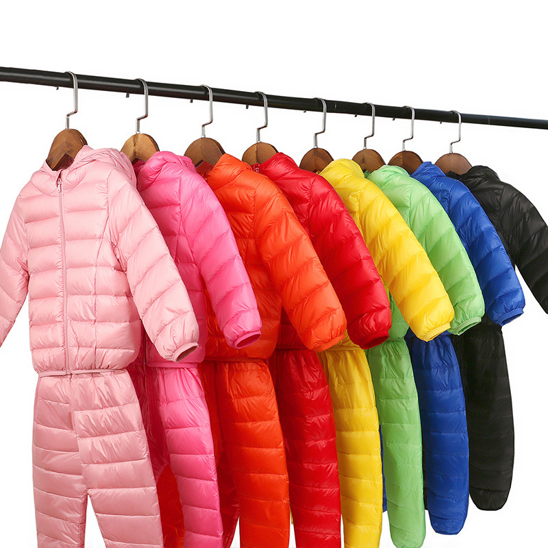 2017 New Childrens Down Jacket  Winter  Fashion Unisex Full Solid Hooded Regular Waterproof Snow Warm Kids Clothes<br>